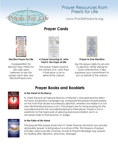 Picture of Free Prayer Flier