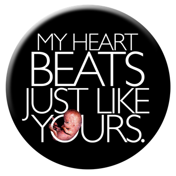 My Heart Beats Just Like Yours 2 inch round button
